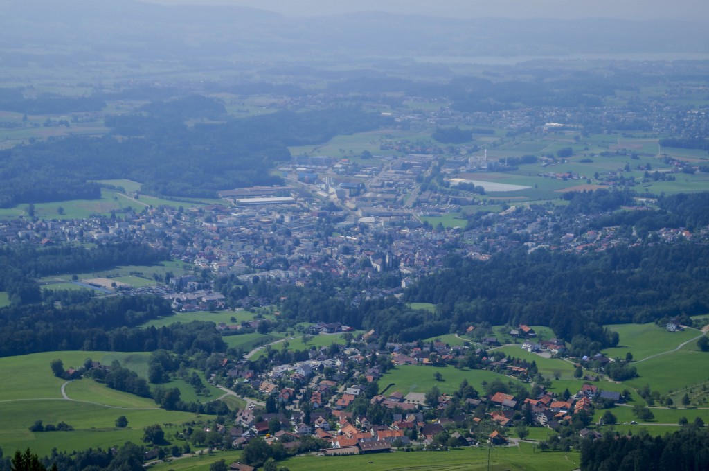 View of Hinwil from Bachtel